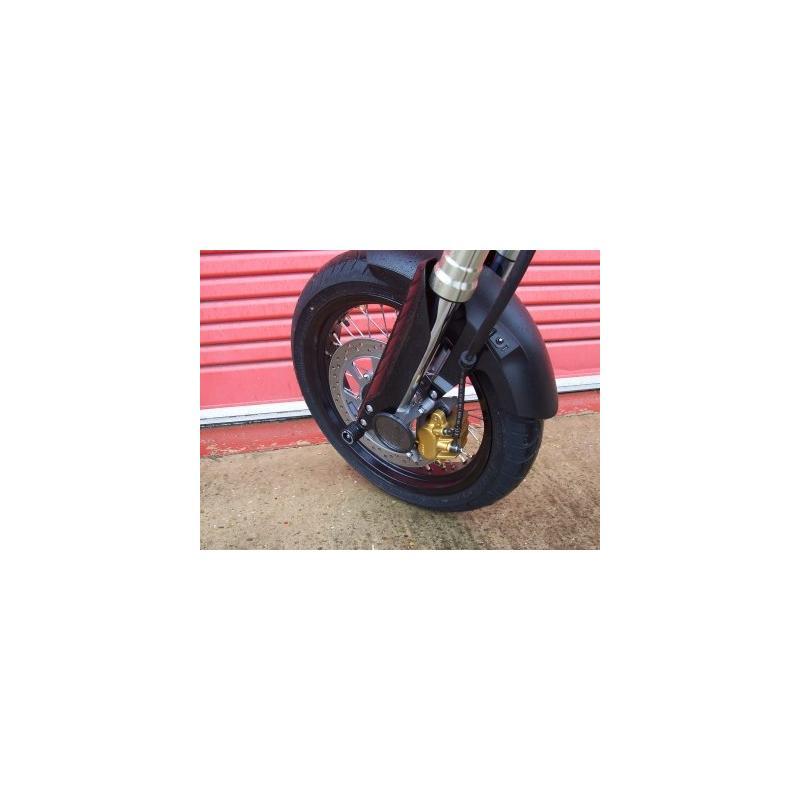 Tampons de protection de fourche R&G Racing noirs Honda FMX 650 05-07