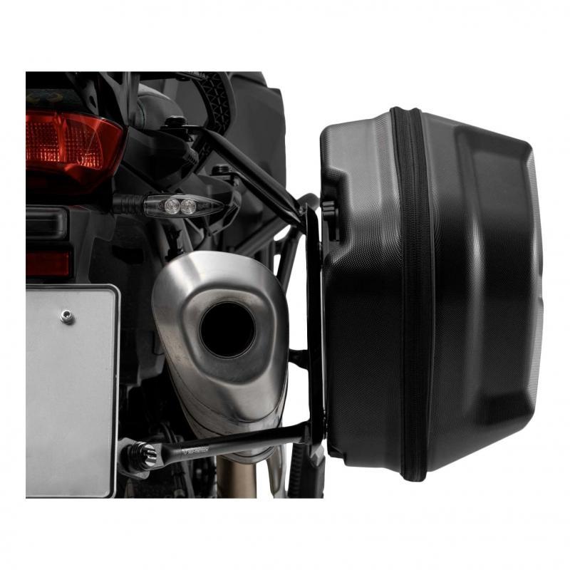 Valises latérale SW-Motech Aero ABS noires support EVO Honda CBF 500 04-06 - 3