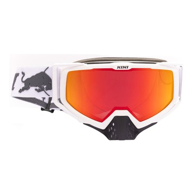 Masque cross Kini Red Bull Competition V2.1 blanc/orange