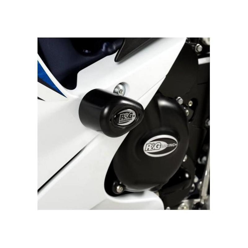 Tampons de protection R&G Racing Aero noir Suzuki GSX-R 600 11-18