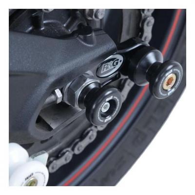 Tampons de bras oscillant diabolos R&G Racing noir Triumph Street Triple 765 17-18