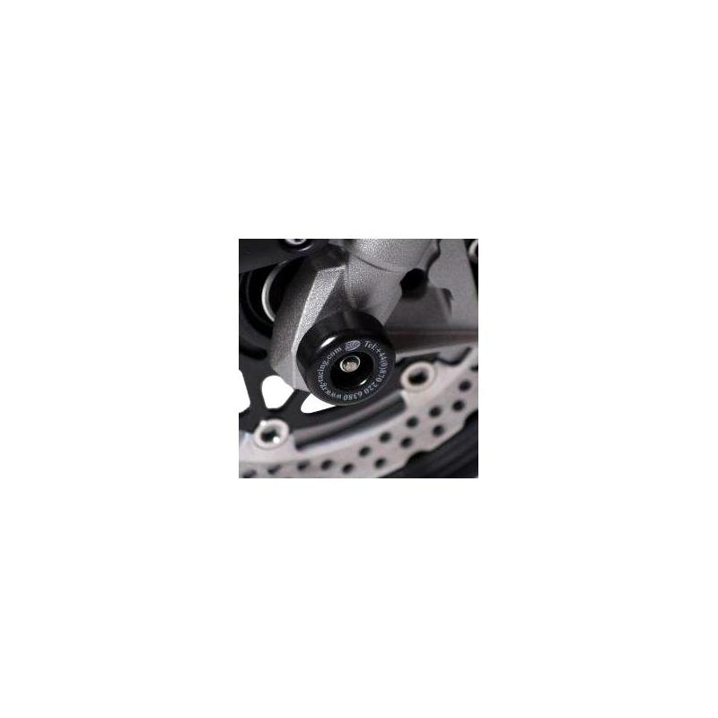 Tampons de protection de fourche R&G Racing noirs Kawasaki Z 1000 07-09