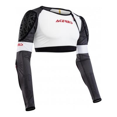 Gilet de protection court Acerbis Veste Galaxy blanc/noir/rouge