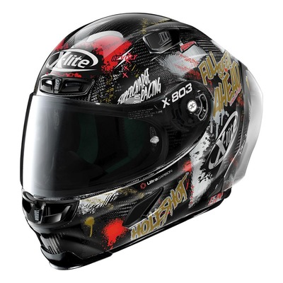 Casque intégral X-Lite X803 RS Ultra Carbon Holeshot multicolore/carbone (coloris n°35)