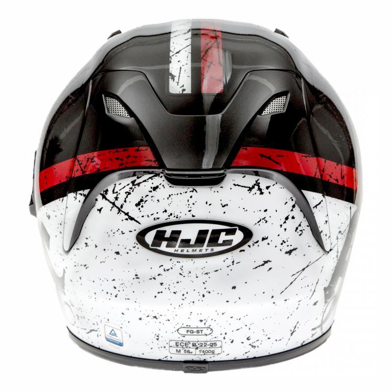 Casque intégral HJC FG-ST Labi noir/blanc/rouge - 4