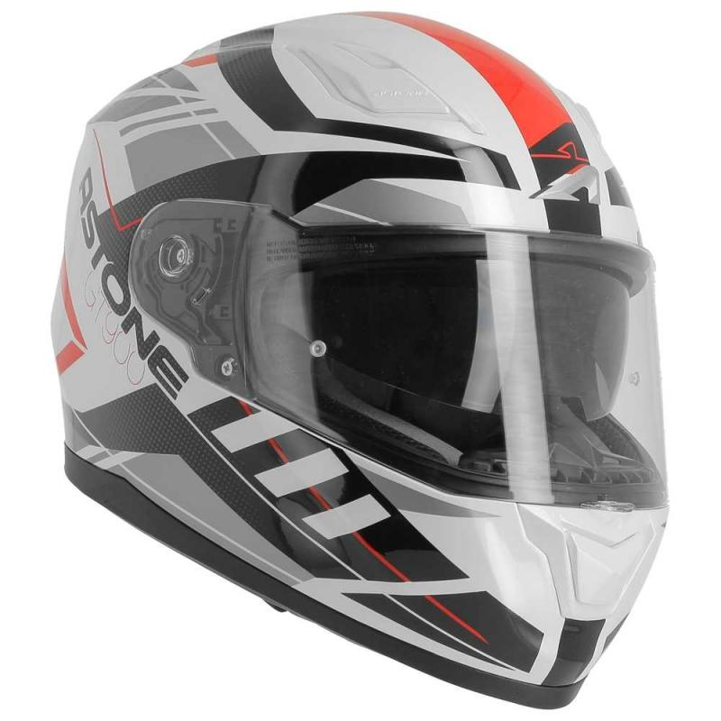 Casque intégral Astone GT900 exclusive STREET blanc/rouge - 6