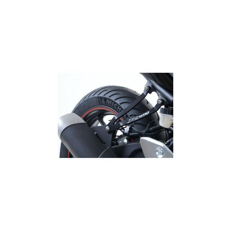 Patte de fixation de silencieux R&G Racing noire Yamaha YZF-R3 15-18 - 2