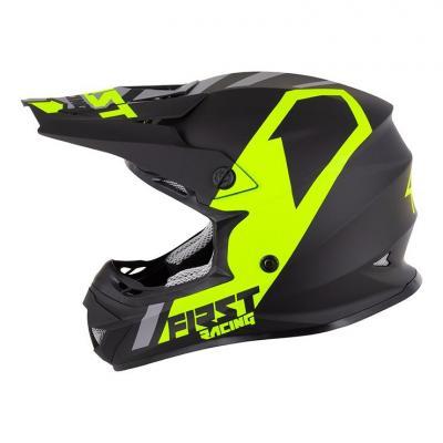 Casque cross First Racing K2 Polycarbonate noir/gris/jaune fluo