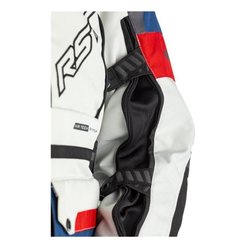 Veste textile RST Adventure-X Ice/bleu/rouge - 5