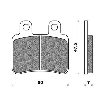 Plaquettes de frein Newfren Standard organique .FD.0323 BS