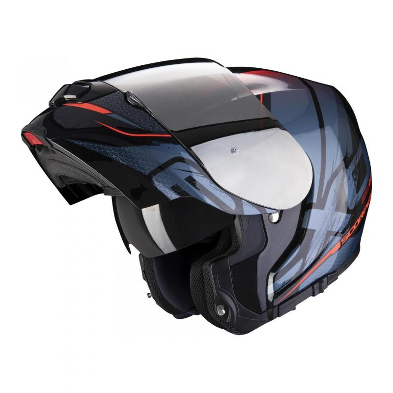 Casque modulable Scorpion Exo-3000 Air Creed noir/rouge - 1