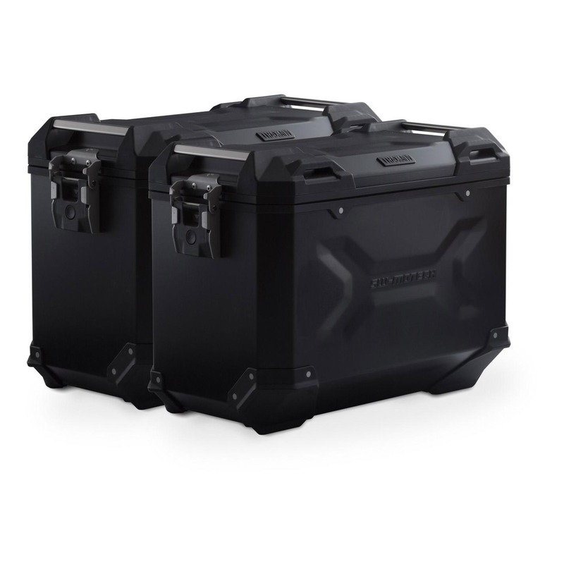Valises latérales SW-MOTECH TRAX ADV noires 45L support PRO Honda NC 750 S/X 16-20