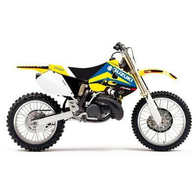Kit déco + housse de selle Blackbird Dream Graphic 4 Suzuki 125 RM 96-00 bleu/jaune