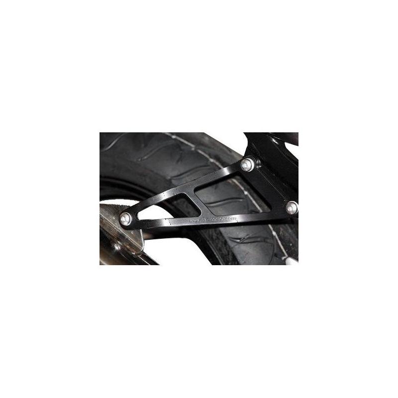 Patte de fixation de silencieux R&G Racing noire Suzuki SV 650 03-11 l'unité