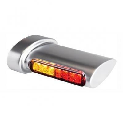 Clignotants de garde-boue arrière Heinz Bikes LED alu mat avec feu arrière intégré