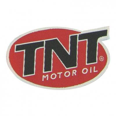 Autocollant Logo TNT MOTOR OIL 7X4 cm Encollage Arrière