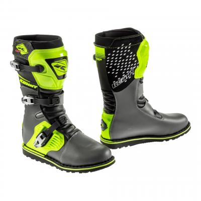 Bottes trial Kenny Trial-up gris/jaune fluo
