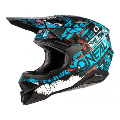 Casque cross O'Neal 3SRS Ride noir/bleu