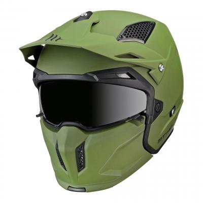 Casque transformable MT Helmets Streetfighter SV vert mat