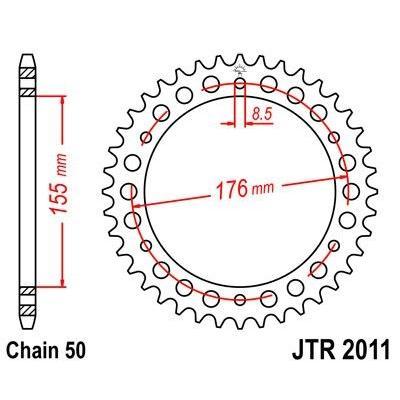 Couronne JT Sprockets Acier pas 530 43 dents - Pour Triumph 955 Sprint ST 99-04