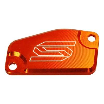 Couvercle de maître cylindre de frein avant Scar aluminium anodisé orange pour KTM SX 85 13-16