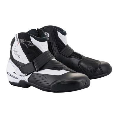 Demi-bottes Alpinestars SMX-1 R v2 Vented noir/blanc