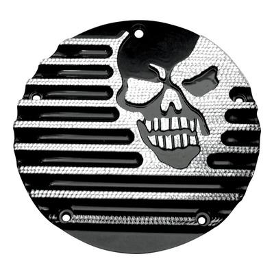 Derby cover Covingtons Harley Davidson Big Twin 99-18 skull usiné noir/alu