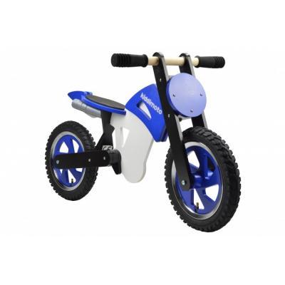 Draisienne moto Kiddimoto Scrambler bleu/noir/blanc
