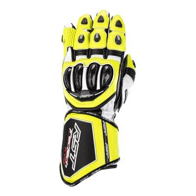 Gants cuir RST Tractech Evo 4 jaune fluo/noir