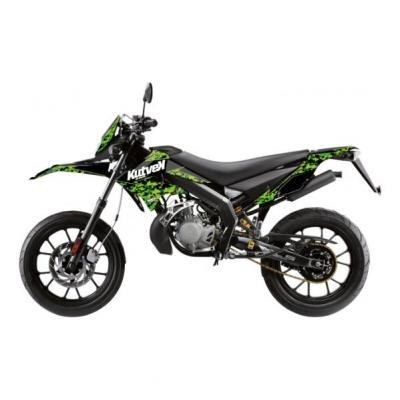 Kit déco Kutvek Predator Derbi DRD Xtreme 10-17 noir vert