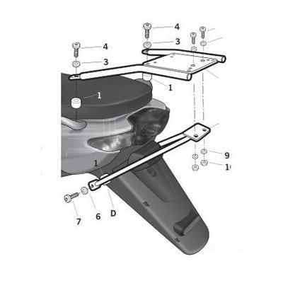 Kit fixation top case Top Master SHAD Yamaha 50 Neos 97-07