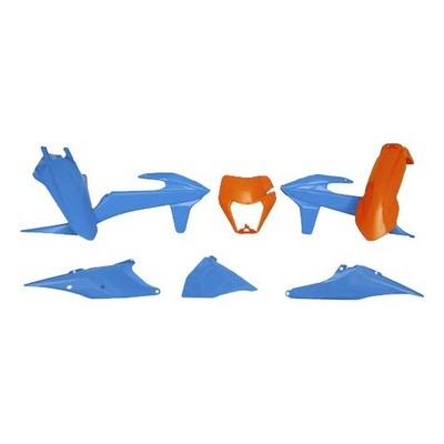 Kit plastique RTech KTM 250 EXC-F 20-21 bleu clair/orange