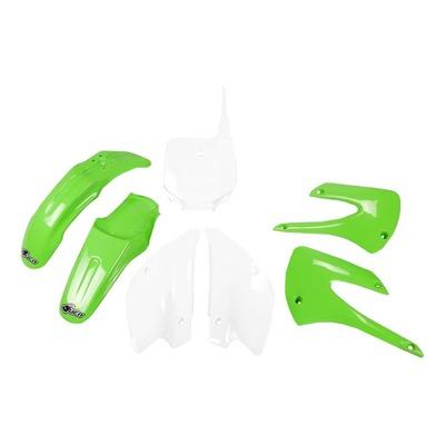 Kit plastique UFO Kawasaki 85 KX restylé 11-12 blanc/vert (couleur origine)