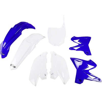 Kit plastique UFO restylé Yamahe 125 YZ 02-14 bleu/blanc (couleur origine)