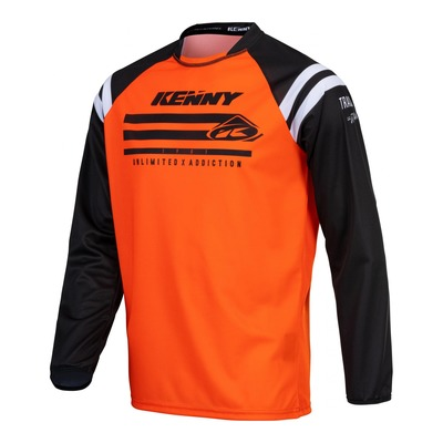 Maillot cross Kenny Track Raw orange fluo