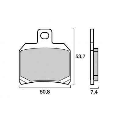 Plaquettes de frein d'origine Brembo métal fritté 07BB2065
