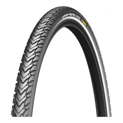 Pneu vélo City/VTC Michelin Protek Cross TR noir/flanc réfléchissant (700 X 35C)