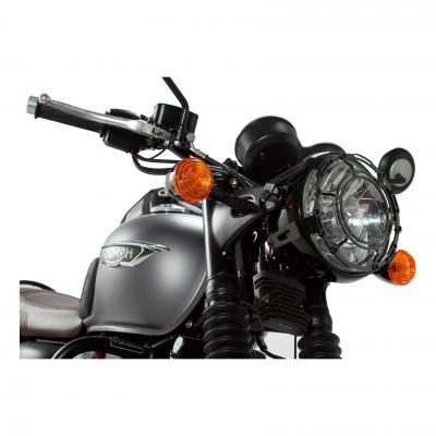 Protection de phare SW-MOTECH noir Bonneville T120 15- / Thruxton1200 16-