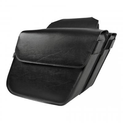 Sacoches latérales Willie & Max cuir synthétique modèle Raptor M design soft noire
