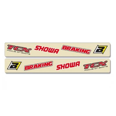 Stickers de protection de bras oscillant Blackbird Logo Suzuki 450 RM-Z 04-16 transparent