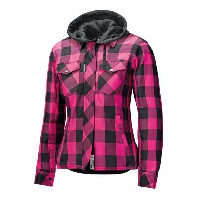 Sur-chemise femme textile à capuche Held Lumberjack II noir/rose