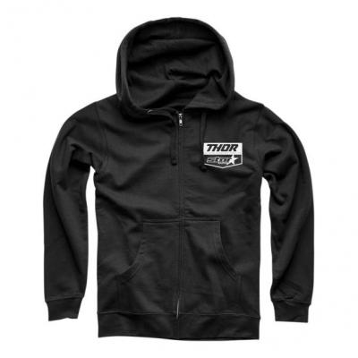Sweat zippé à capuche Thor Star Racing noir