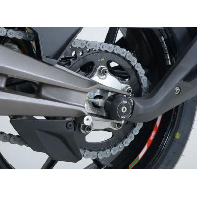 Tampons de bras oscillant R&G Racing noir Aprilia Caponord 1200 13-17