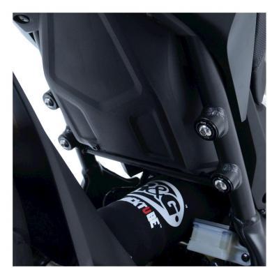 Caches orifices de repose-pieds passager R&G Racing noir Honda CB 650 R Neo Sport Cafe 19-20