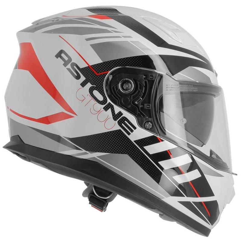 Casque intégral Astone GT900 exclusive STREET blanc/rouge - 5