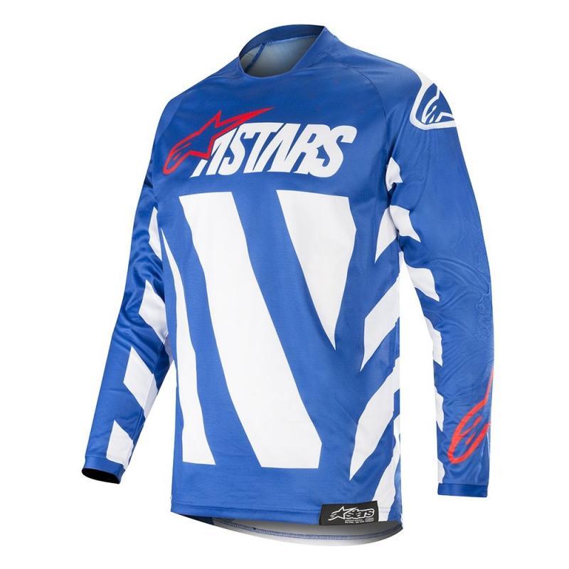Maillot cross Alpinestars Racer Braap bleu/blanc/rouge