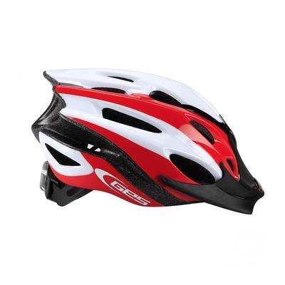 Casque vélo enfant Junior GES Apache rouge/noir/blanc (taille 47-53)