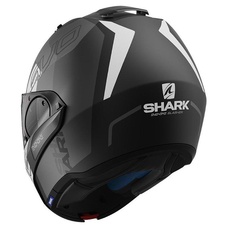 Casque modulable Shark EVO-ONE 2 SLASHER MAT noir/anthracite/blanc - 1