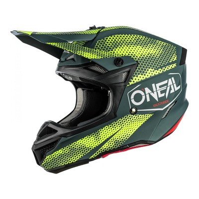 Casque cross O'Neal 5SRS Polyacrylite Covert charcoal/jaune fluo