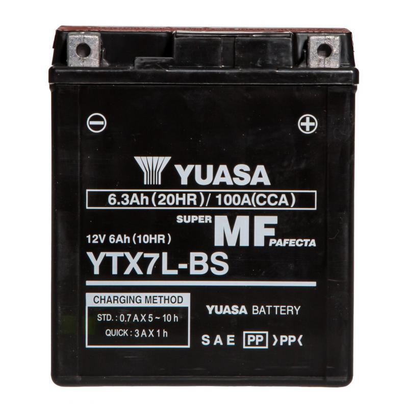 Batterie Yuasa YTX7L-BS 12V 6Ah - 3